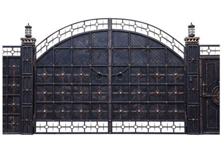 Iron gate isolation on a white background