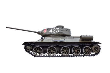 t34: Tank T-34 isolated on a white background