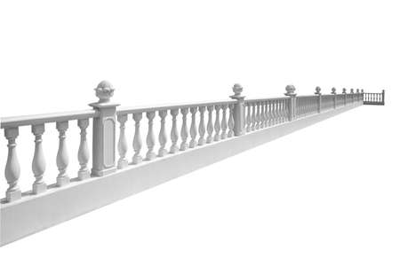 Balustrade isolated on a white background