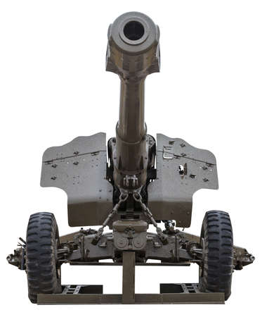 Artillery gun isolated on a white background