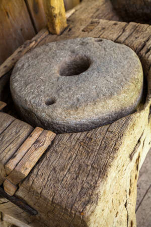 Mill stone circle for grinding, grinding grain into flour.