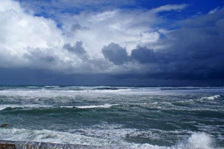 Storm in the Mediterranean Sea off the coast of Libya.