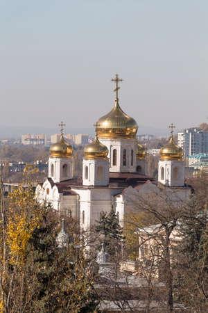 pyatigorsk: Cattedrale di Cristo Salvatore Pyatigorsk, Russia Archivio Fotografico
