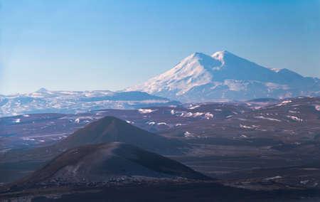 elbrus: View of Mount Elbrus from the summit of Mount Mashuk