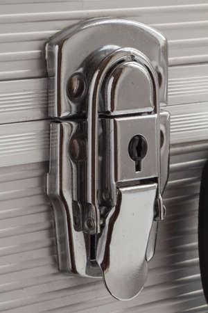 closed lock: Closed lock suitcase