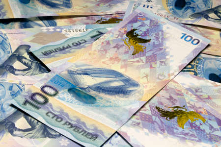 flambeau: Background from banknotes 100 rubles to Sochi-2014