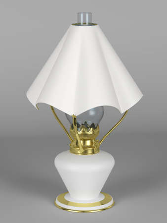 lamp shade: Oil lamp with the lamp shade