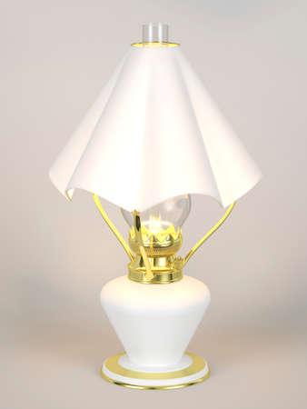 lamp shade: The shining of kerosene lamp with the lamp shade Stock Photo