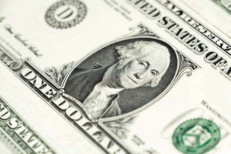 Background from banknotes of 1 US dollar photo
