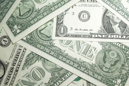 one sheet: Background of US dollars Stock Photo