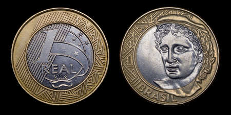 an obverse: Obverse and reverse of a coin 1 Brazilian