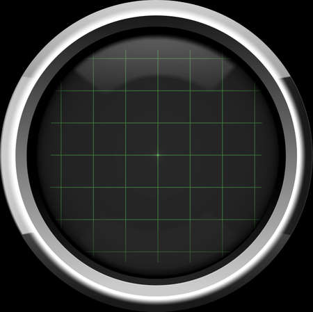 crt: The empty screen of an oscilloscope with a grid chart in green tones  Use as a background for your operations, displaying the necessary information or the diagram