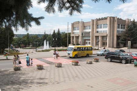 pyatigorsk: PYATIGORSK, RUSSIA - AUGUST 11, 2014: Kozlov Street, quiet life of the resort of Pyatigorsk Editorial