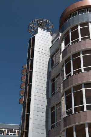 pyatigorsk: PYATIGORSK, RUSSIA - 15 agosto 2014: Edificio per uffici sul prospetto di Kalinin