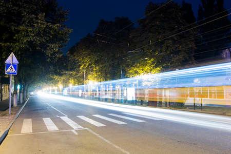 kirov: PYATIGORSK, RUSSIA - AUGUST 21, 2014  Kirov Avenue at night Editorial