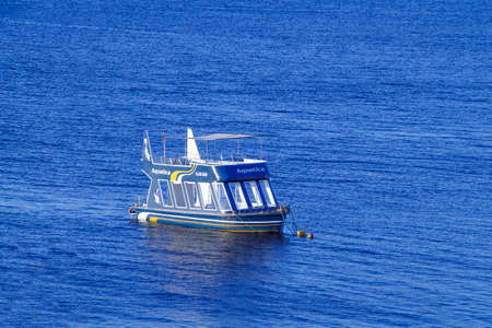 SHARM EL-SHEIKH, EGYPT - DECEMBER 01, 2014: Aquatica Glass Boat to deliver recreational divers to the dive site in the Red Sea