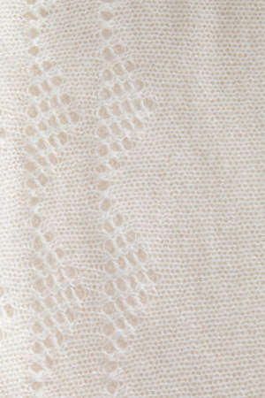 woolen cloth: White woolen cloth with a pattern, background Stock Photo