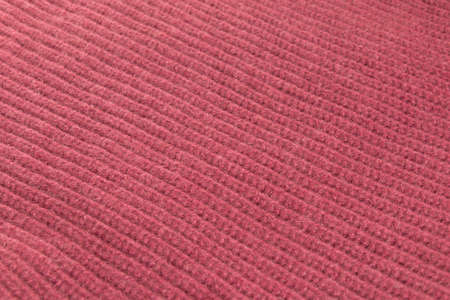 woolen cloth: Red woolen cloth close up, background Stock Photo