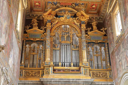 pipe organ: Pipe organ inside the Papal Archbasilica of St. John in the Lateran in Rome, Italy