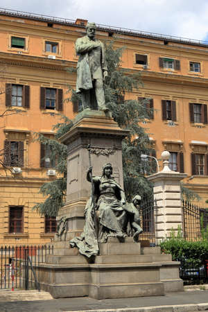 statesman: Rome, Italy - August 17, 2015: Sculpture to Quintino Sella July 7, 1827 - 14 March 1884. He was an Italian statesman and financier. Editorial