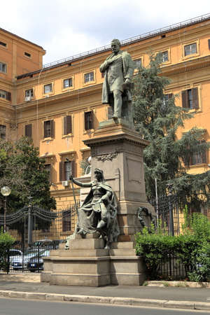 the statesman: Rome, Italy - August 17, 2015: Sculpture to Quintino Sella July 7, 1827 - 14 March 1884. He was an Italian statesman and financier. Editorial