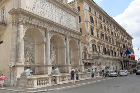 felice: Rome, Italy - August 17, 2015: The tourist take a shot of Moses Fountain Fontana dellAcqua Felice