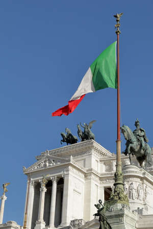 altar of fatherland: Details of Altar of the Fatherland, also known as National Monument to Victor Emmanuel II Monumento a Vittorio Emanuele II Stock Photo