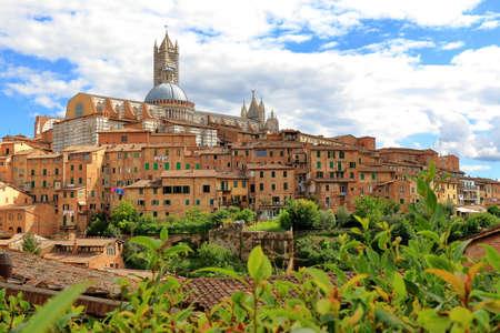 siena: View of Siena towards Siena Cathedral Italian: Duomo di Siena Stock Photo