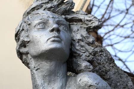 partisan: Pyatigorsk, Russia - December 12, 2015: Monument to Nina Poptsova woman partisan in WWII Editorial