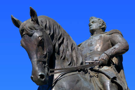 commanded: Pyatigorsk, Russia - October 19, 2015: Equestrian monument to General Yermolov Russian Imperial general of the 19th century who commanded Russian troops in the Caucasus War
