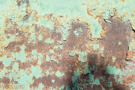 metal corroded texture peeling paint metal rust, corrosion, texture of a metal wall, with traces of rust. Abstract dirty metal background. Wallpaper. Free space pattern. Old textured tile 版權商用圖片