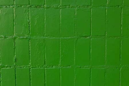 texture of old green tile abstract street wall mosaic tile Standard-Bild - 157118064