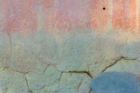 green old texture of plaster on the wall of a street house Abstract colorful wall texture and background