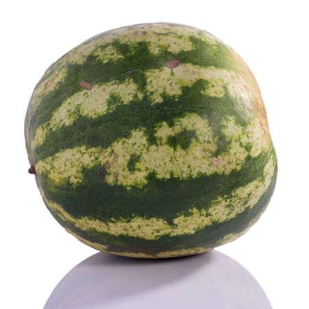 autumn watermelon isolate on white background, berry. Foto de archivo