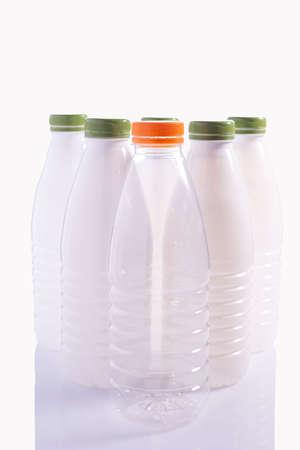 white plastic bottles isolate on white background set of plastic water bottle isolated on white background
