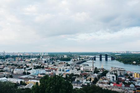 kyiv city view on bridge