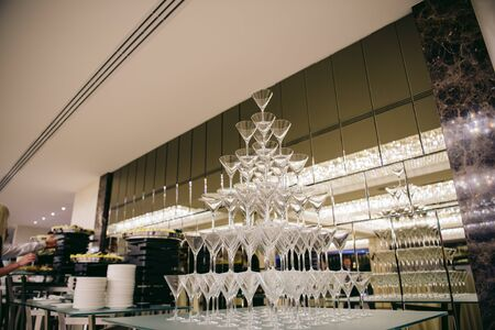 glasses for martini in the form of a pyramid
