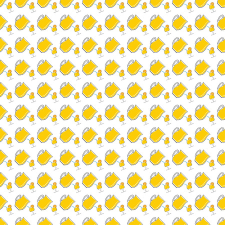 sangria: Seamless pattern with lemonade in pitcher and glass of cocktail. Vector illustration on a white background