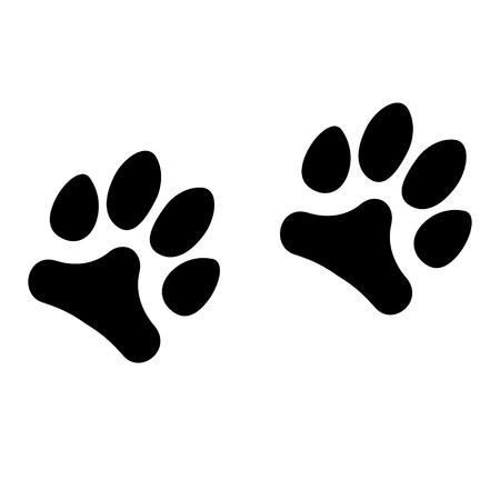 Animals footprints isolated on white background. Vector illustration Vettoriali