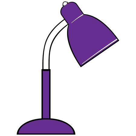 lamplight: Reading-lamp. Single flat icon on white background.