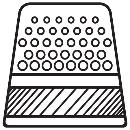 Sewing thimble vector icon. Vector isolated on white background