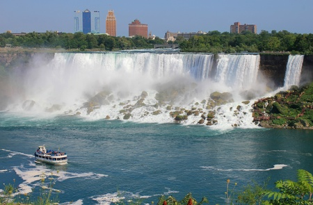 View of Niagara falls in Canada  Stock Photo
