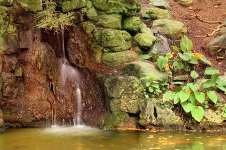Little waterfall in the rocks