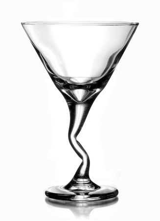 Martini Cocktail Glass isolated on white background
