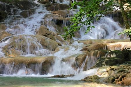 Dunn s River Falls, Jamaica  Фото со стока