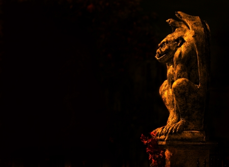 gargoyle: Gargoyle isolated on black background