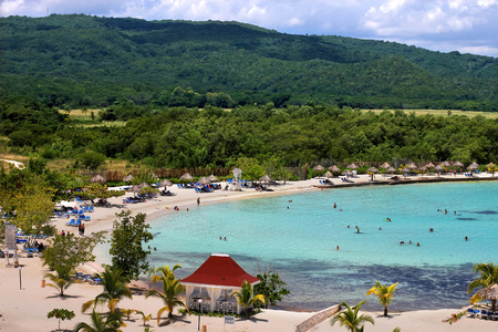 Caribbean tourist resort beach  photo