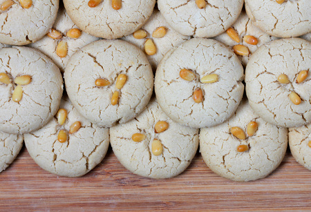 homemade fresh tahini cookies