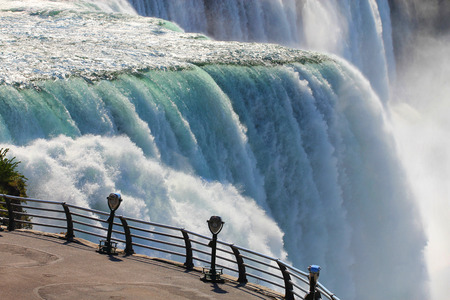 Niagara falls binoculars Stock Photo