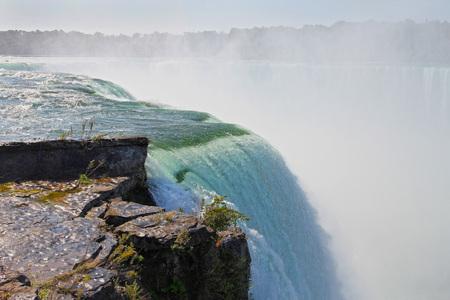 the edge of horseshoe falls: Edge of the horseshoe section of Niagara Falls.